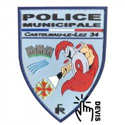 Ecussons PVC - Police municipale de Castelnau-Le-Lez